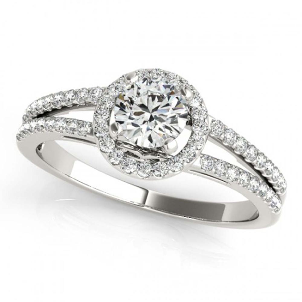 1 CTW VS/SI Diamond Solitaire Halo Ring 18K White Gold - REF-196G9N - SKU:26679