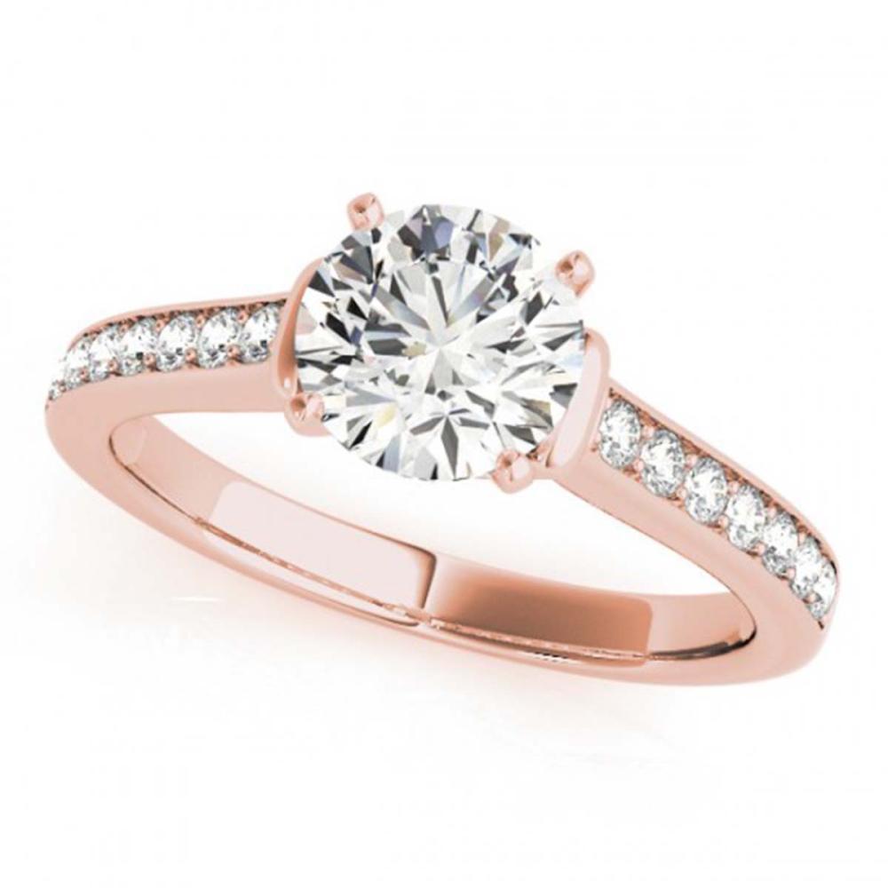 1.50 CTW VS/SI Diamond Solitaire Ring 18K Rose Gold - REF-385W6G - SKU:27529