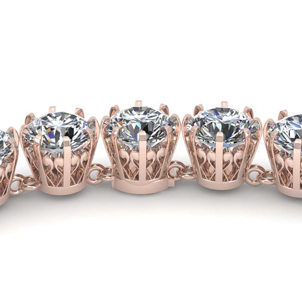 40 CTW SI Diamond Necklace 18K Vintage Gold - REF-6525F2V - SKU:35795