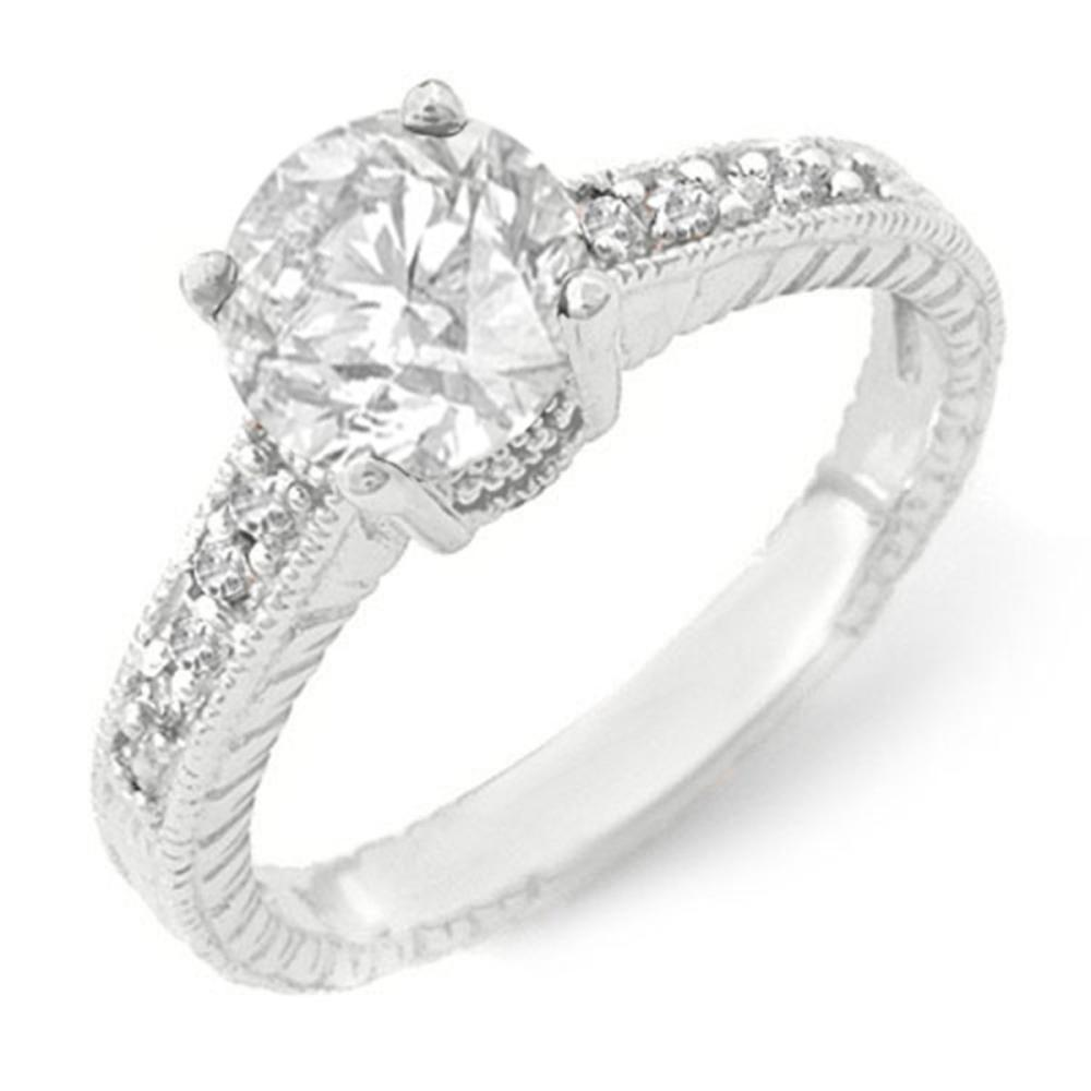 1.05 CTW VS/SI Diamond Solitaire Ring 14K White Gold - REF-180H9M - SKU:14075