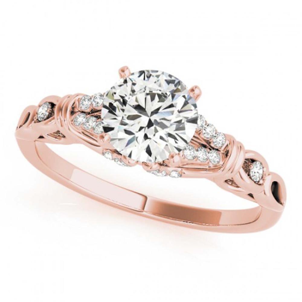1.20 CTW VS/SI Diamond Solitaire Ring 18K Rose Gold - REF-363F3V - SKU:27868
