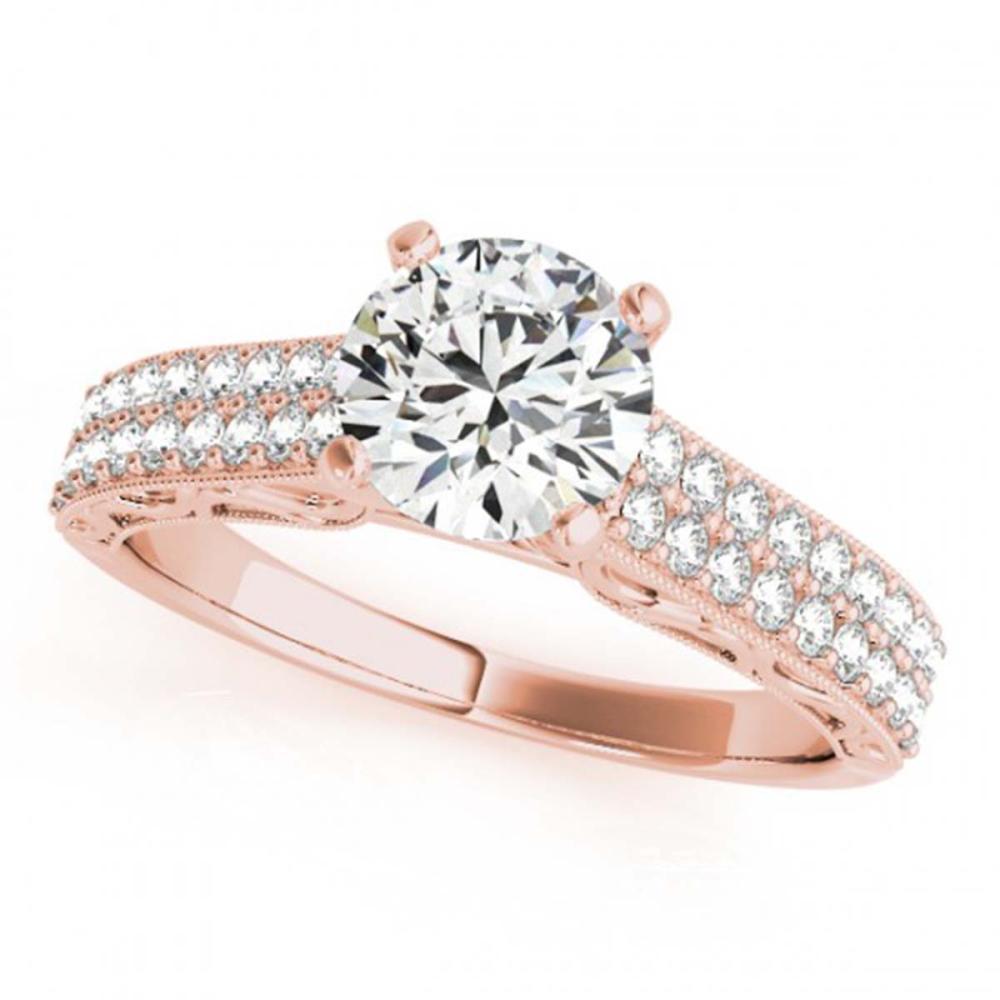 1.16 CTW VS/SI Diamond Solitaire Antique Ring 18K Rose Gold - REF-219V3Y - SKU:27316