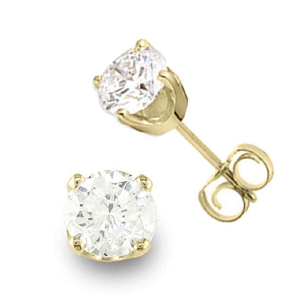 0.90 CTW VS/SI Diamond Stud Earrings 14K Yellow Gold - REF-118H5M - SKU:13039