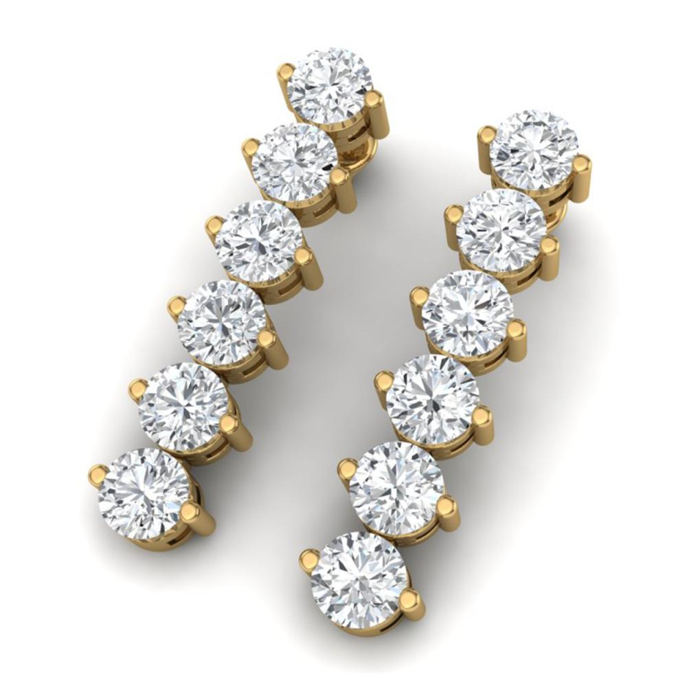 6 CTW SI/I Diamond Earrings 18K Yellow Gold - REF-675K2W - SKU:40000