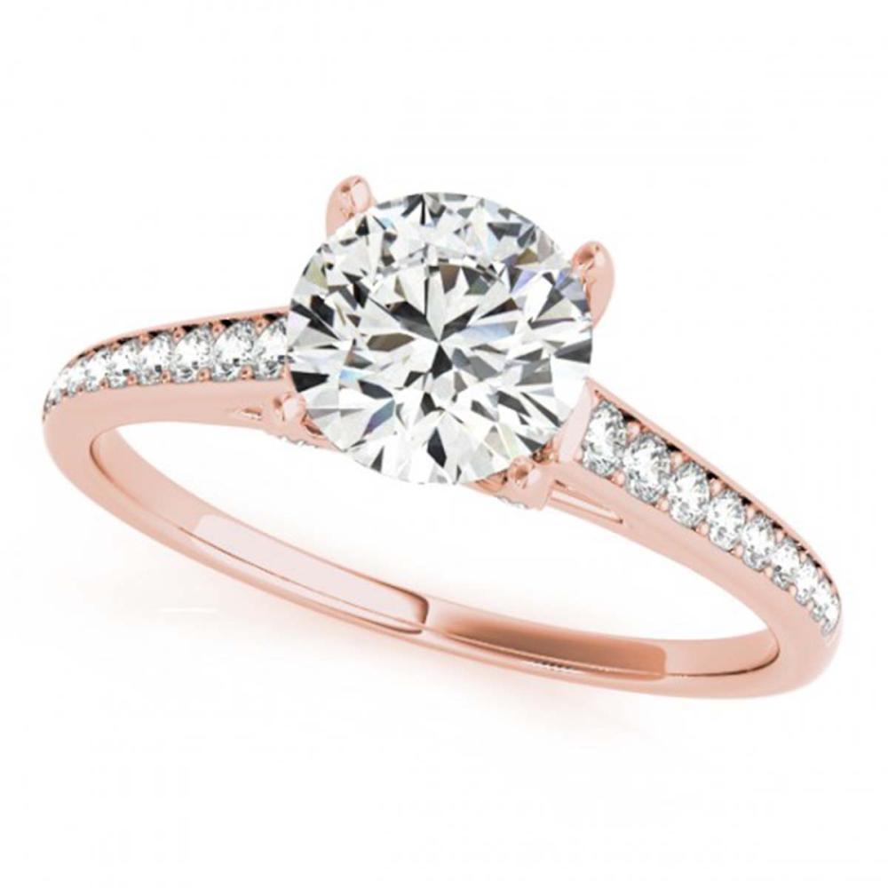 2 CTW VS/SI Diamond Solitaire Wedding Ring 18K Rose Gold - REF-599N2A - SKU:27466