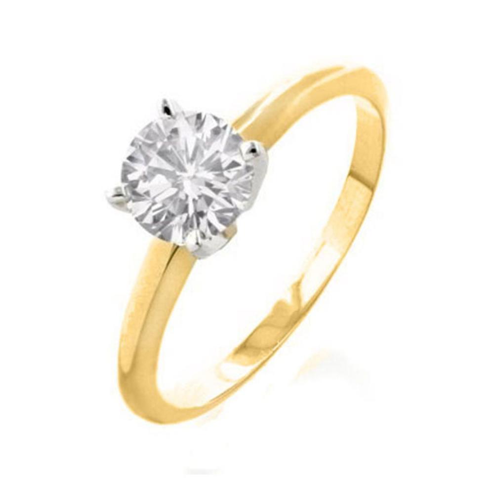 0.25 CTW VS/SI Diamond Solitaire Ring 14K 2-Tone Gold - REF-40G5N - SKU:11951