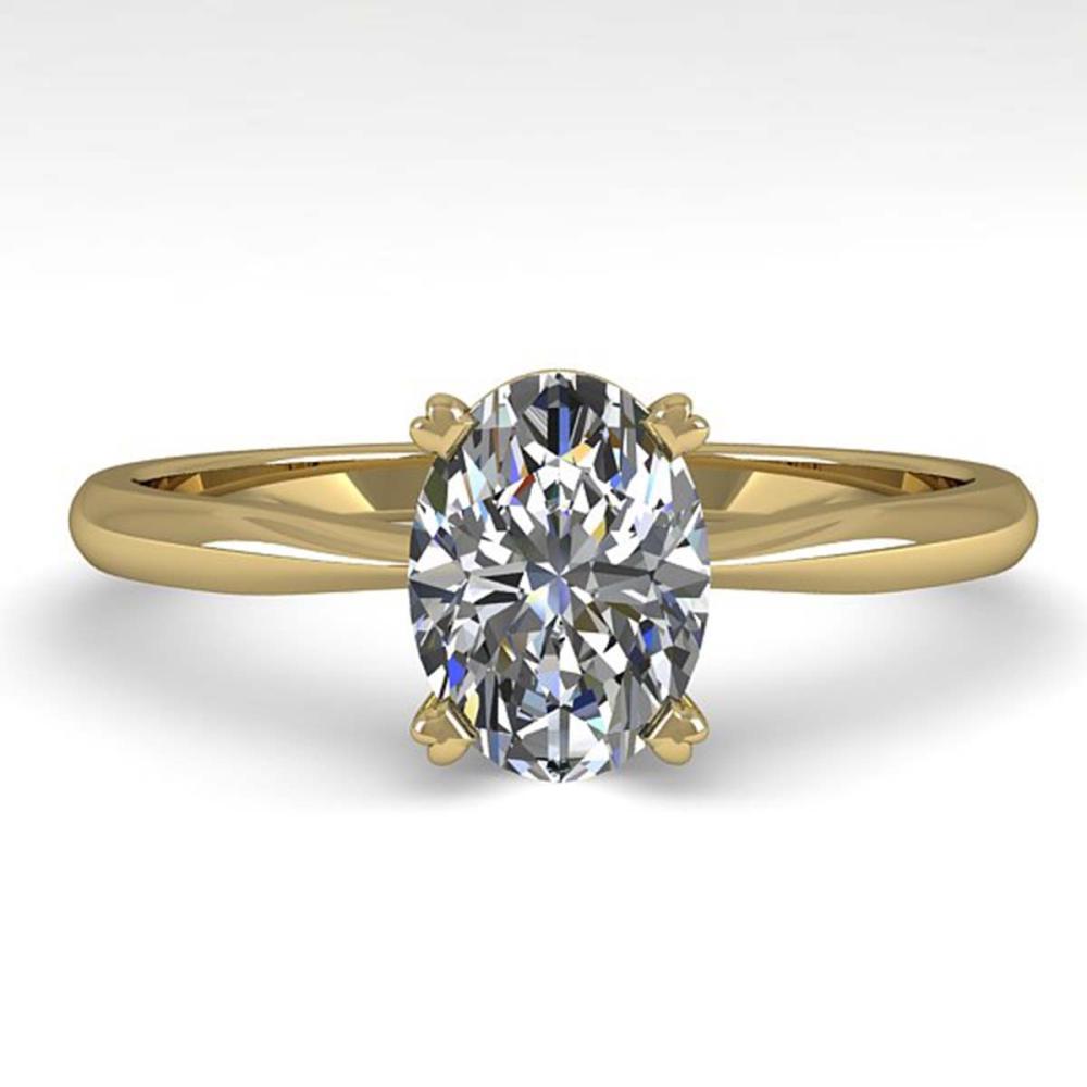 1.01 CTW Oval Cut VS/SI Diamond Engagement Ring 14K Gold - REF-275F3V - SKU:32161