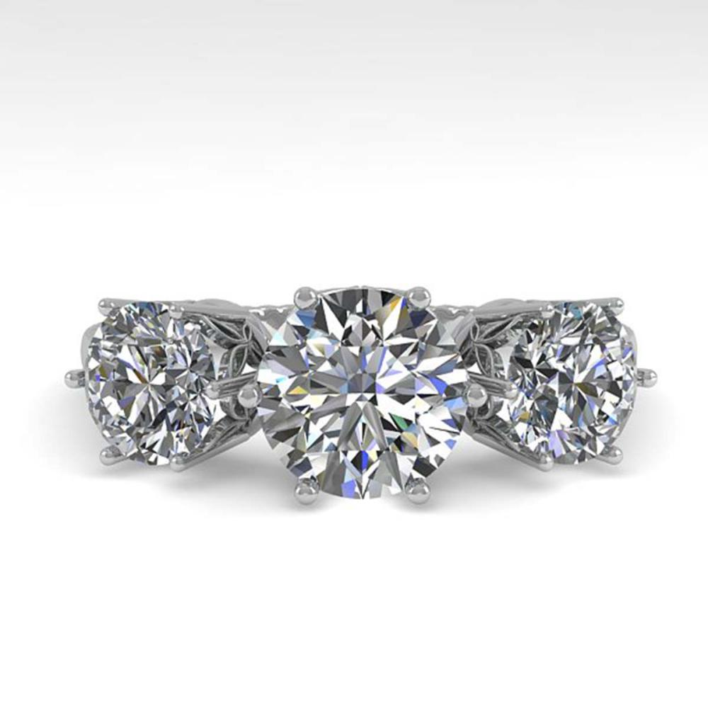 2 CTW Past Present Future VS/SI Diamond Ring 18K White Gold - REF-414N2A - SKU:35910