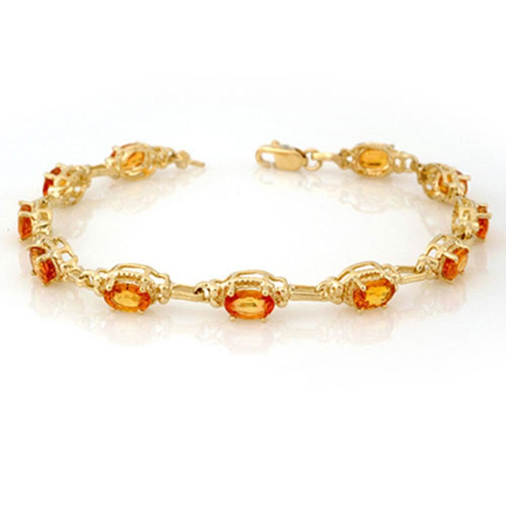 8.0 CTW Yellow Sapphire Bracelet 10K Yellow Gold - REF-81K8W - SKU:11215