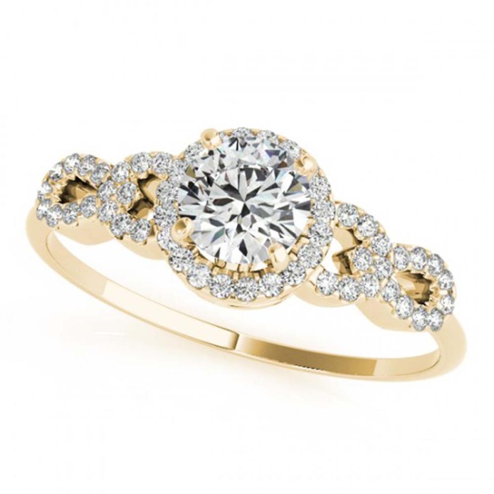 1.33 CTW VS/SI Diamond Solitaire Ring 18K Yellow Gold - REF-367X5R - SKU:27965