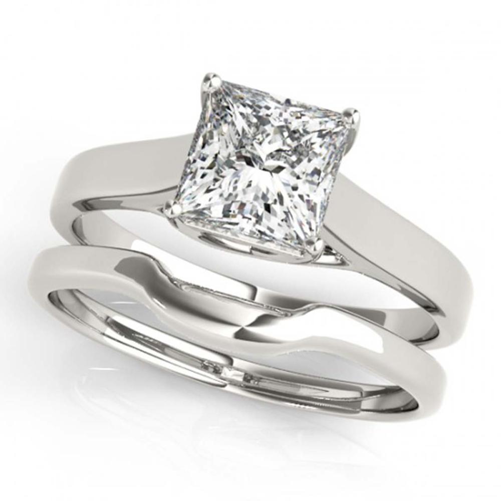 0.75 CTW VS/SI Princess Diamond 2Pc Wedding Set 14K Gold - REF-204K5W - SKU:32102