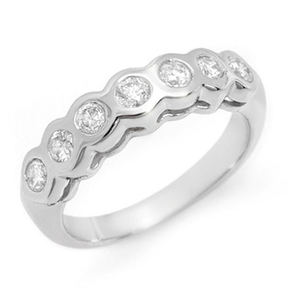 0.50 CTW VS/SI Diamond Ring 14K White Gold - REF-60N2A - SKU:11608