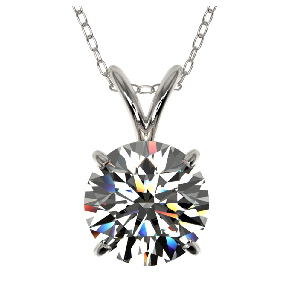 1.55 CTW H-SI/I Quality Diamond Solitaire Necklace Gold - REF-322R5H - SKU:36796