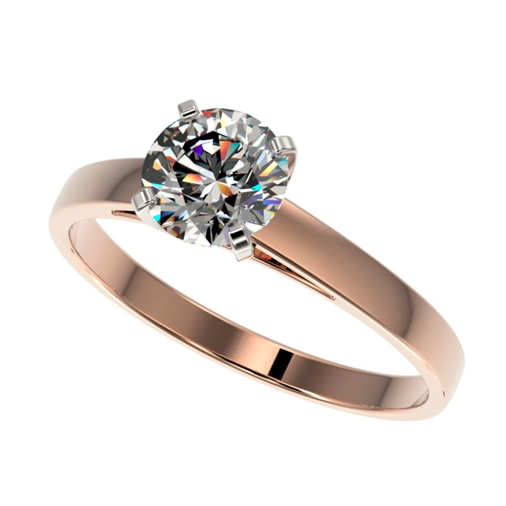 0.99 CTW H-SI/I Quality Diamond Solitaire Ring Gold - REF-199H5M - SKU:36499