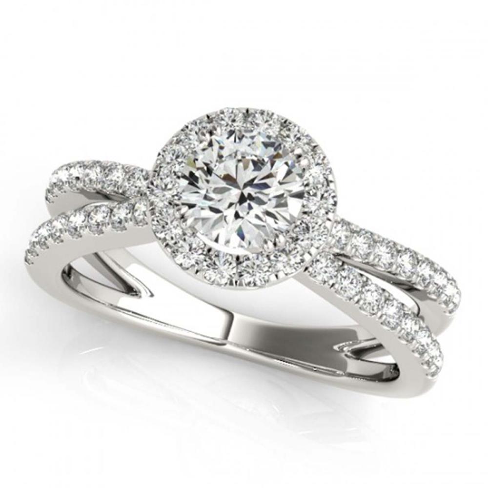 2 CTW VS/SI Diamond Solitaire Halo Ring 18K White Gold - REF-527K3W - SKU:26626