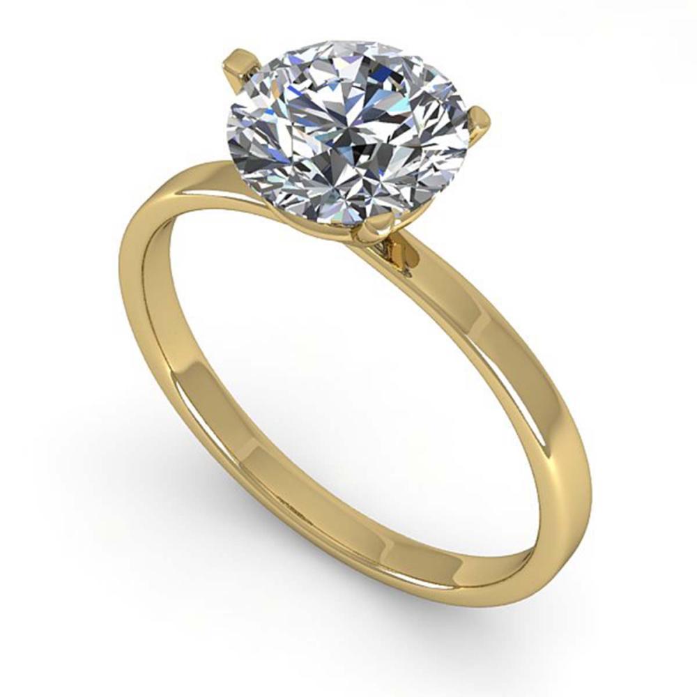 1.50 CTW VS/SI Diamond Engagement Ring Martini 14K Gold - REF-511F5V - SKU:38333