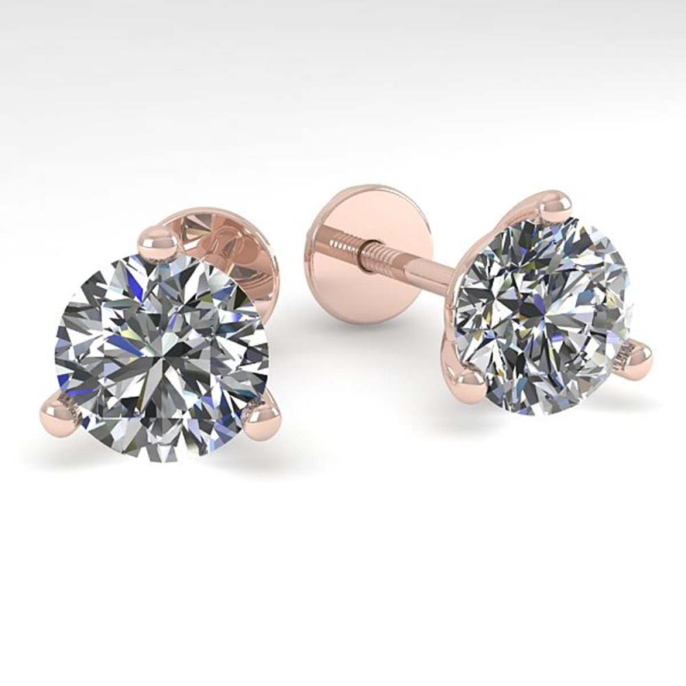 2.01 CTW VS/SI Diamond Stud Earrings Martini 14K Gold - REF-528M3F - SKU:30573
