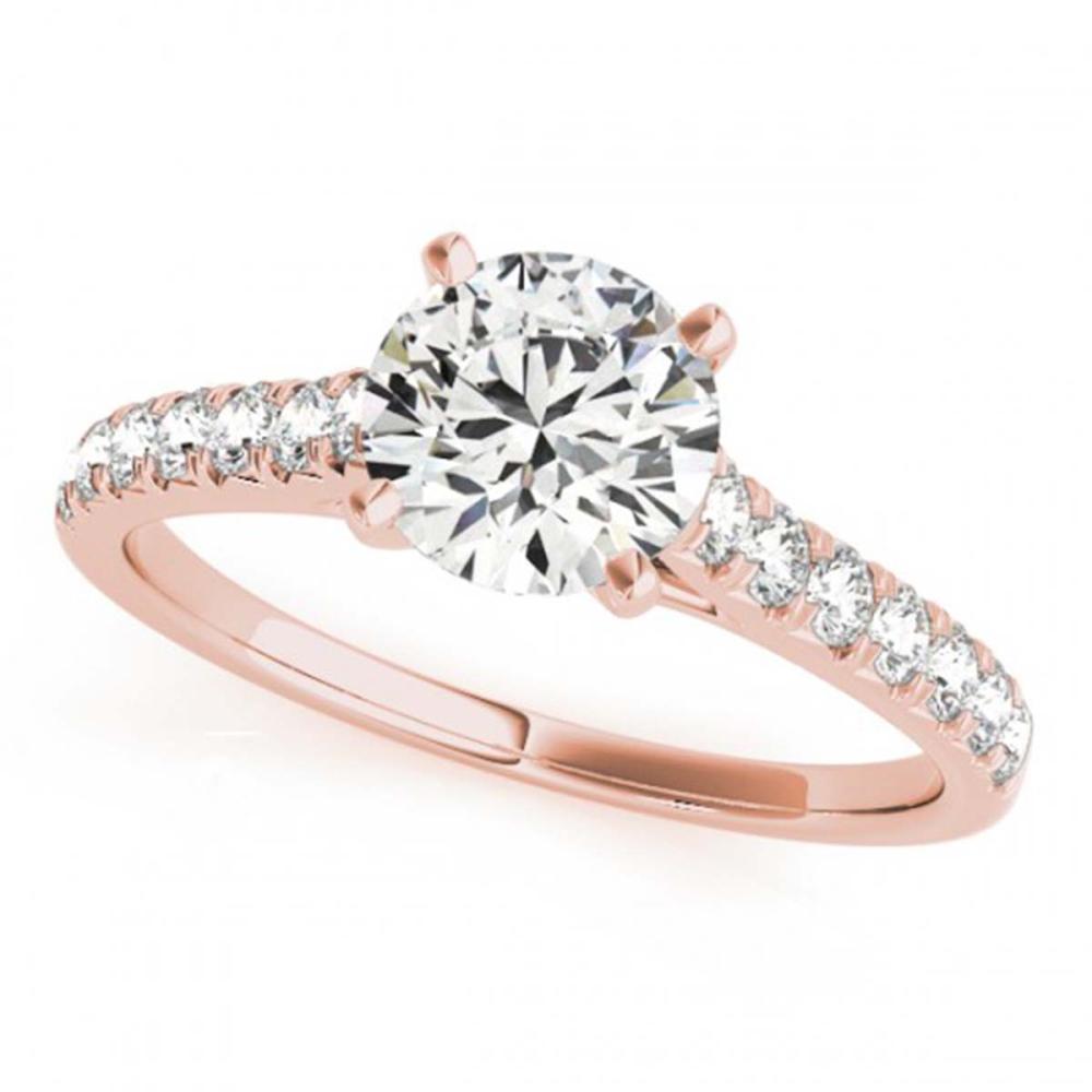 1 CTW VS/SI Diamond Solitaire Wedding Ring 18K Rose Gold - REF-149N3A - SKU:27586