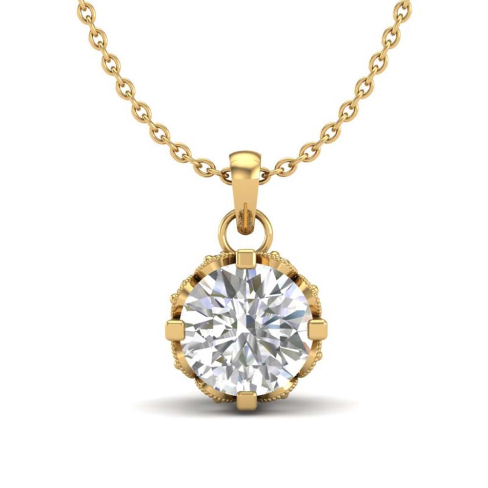 0.85 CTW VS/SI Diamond Art Deco Stud Necklace 18K Gold - REF-138H4M - SKU:36841