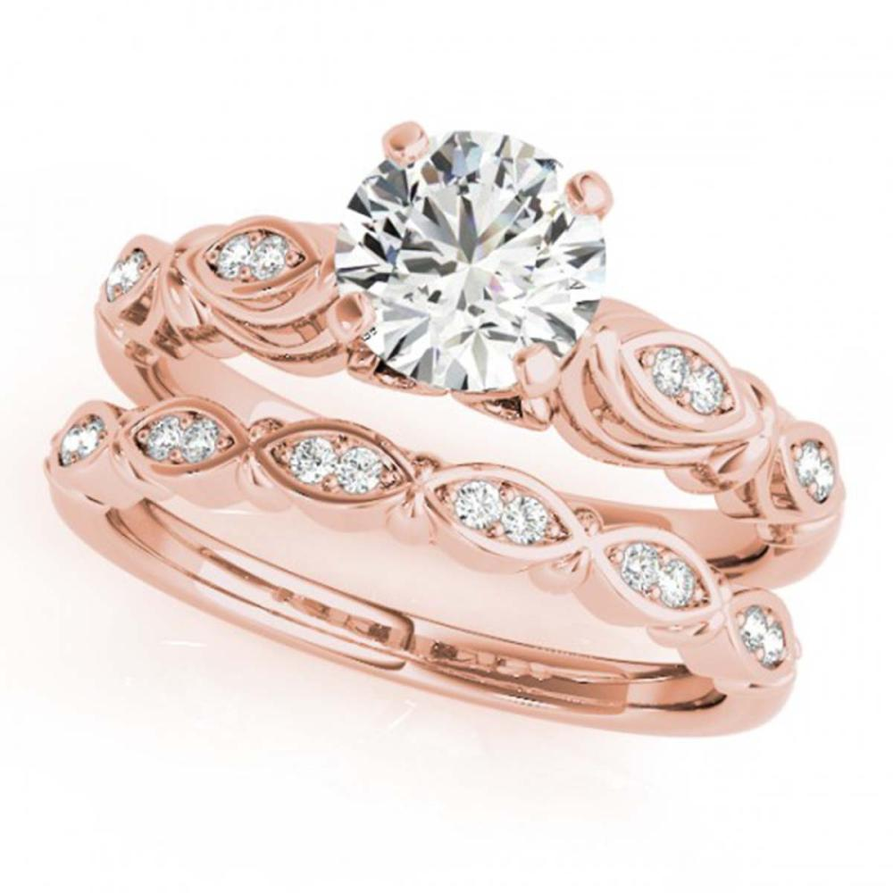 0.94 CTW VS/SI Diamond 2Pc Wedding Set Gold - REF-195A8X - SKU:31497