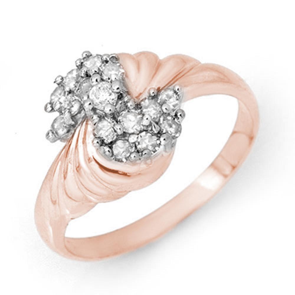 0.25 CTW VS/SI Diamond Ring 18K Rose Gold - REF-46R2H - SKU:14327