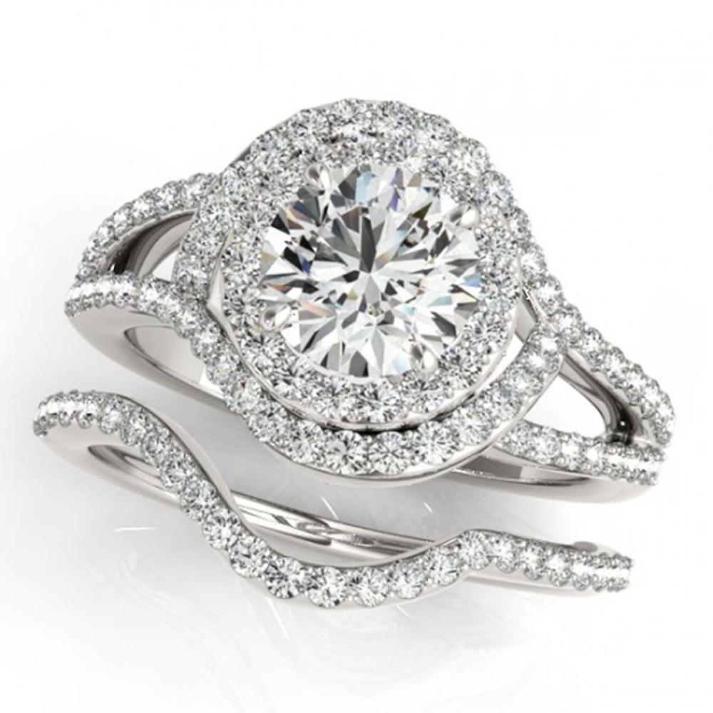 2.47 CTW VS/SI Diamond 2Pc Wedding Set Halo 14K Gold - REF-626G5N - SKU:31268