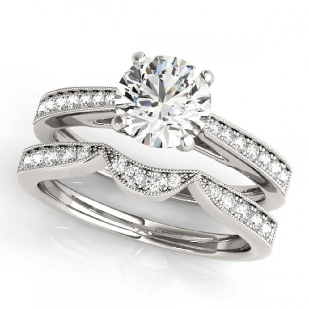 1.44 CTW VS/SI Diamond Solitaire 2Pc Wedding Set 14K Gold - REF-383G8N - SKU:31730