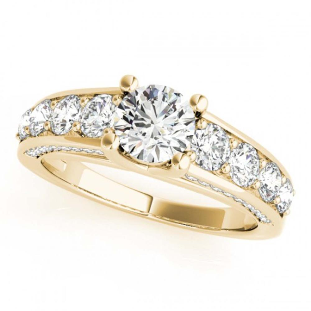 2.55 CTW VS/SI Diamond Solitaire Ring 18K Yellow Gold - REF-477A3X - SKU:28139