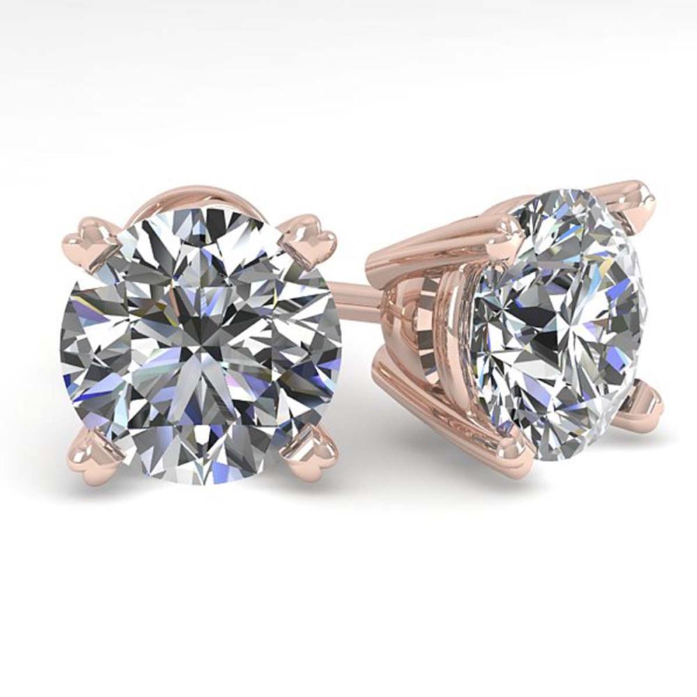 2.53 CTW VS/SI Diamond Stud Earrings 14K Gold - REF-741A7X - SKU:30597