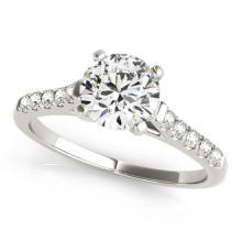0.77 CTW Certified VS/SI Diamond Solitaire Ring 18K White Gold - REF-118K7R - 27576