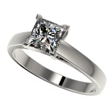 1.25 CTW Certified VS/SI Quality Princess Diamond Solitaire Ring Gold - REF-372F3M - 33013