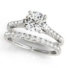 1.22 CTW Certified VS/SI Diamond Solitaire 2Pc Wedding Set 14K Gold - REF-202N9A - 31691