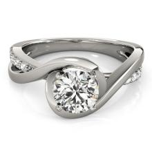 0.65 CTW Certified VS/SI Diamond Solitaire Ring 18K White Gold - REF-133A3N - 27450