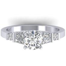 1.69 CTW Certified VS/SI Diamond Solitaire Ring 14K Size 7 Gold - REF-392A7N - 30393