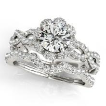 1.93 CTW Certified VS/SI Diamond 2Pc Wedding Set Solitaire Halo 14K Gold - REF-420Y4X - 31184