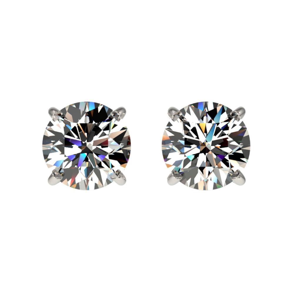 1.09 ctw H-SI/I Diamond Stud Earrings 10K White Gold - REF-103M5F - SKU:36578