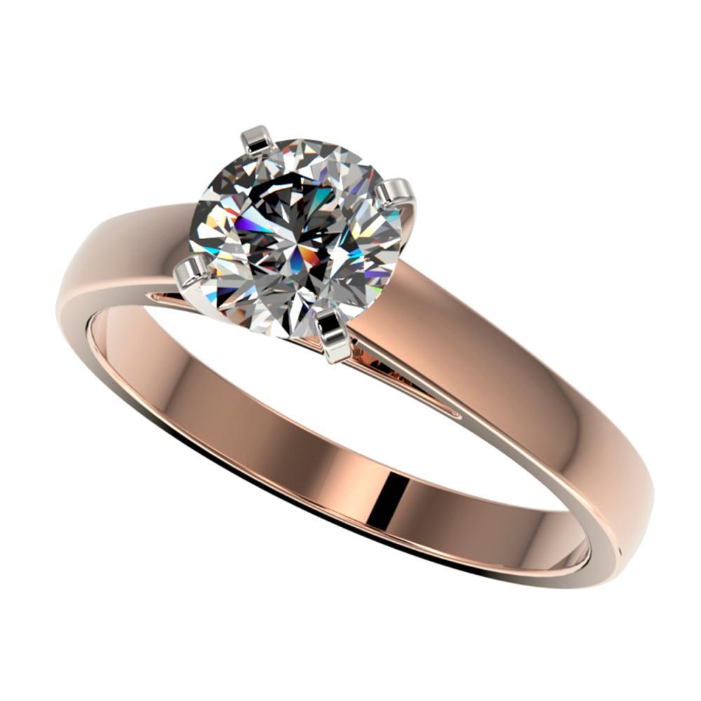 1.29 ctw H-SI/I Diamond Ring 10K Rose Gold - REF-255H2M - SKU:36535