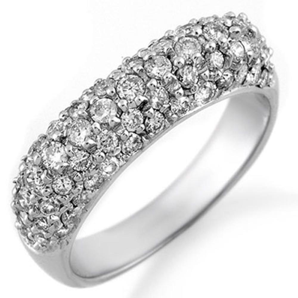 1.25 ctw VS/SI Diamond Ring 18K White Gold - REF-108M2F - SKU:10556