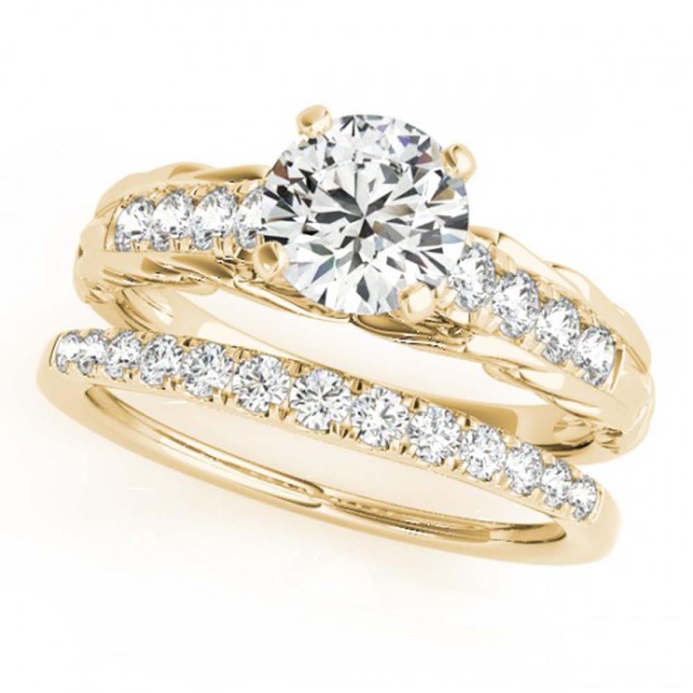 0.79 ctw VS/SI Diamond 2pc Wedding Set 14K Yellow Gold - REF-91V4Y - SKU:31645