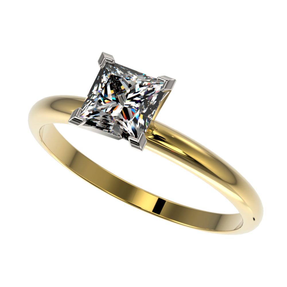 1 ctw VS/SI Princess Diamond Ring 10K Yellow Gold - REF-297K2W - SKU:32899