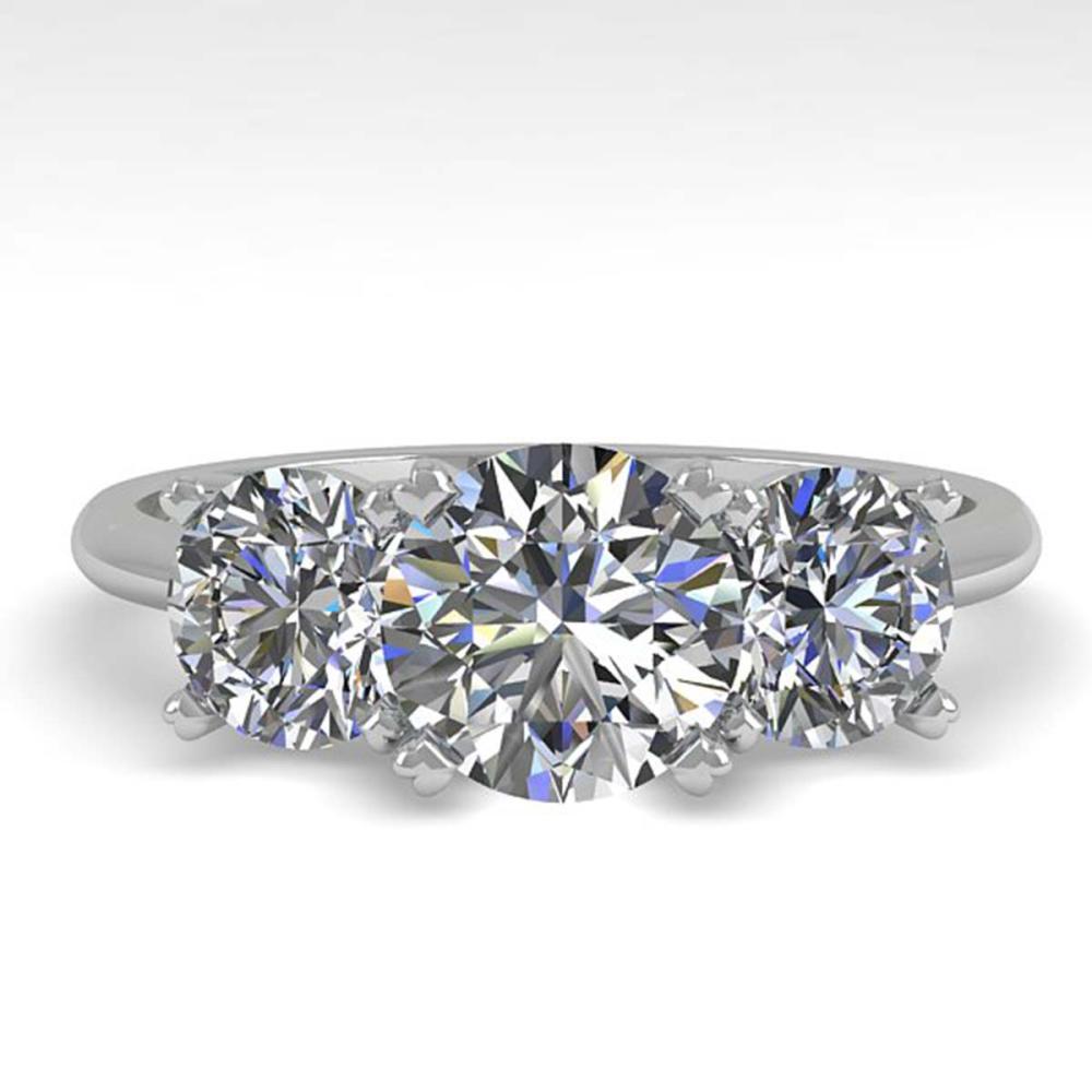 2 ctw VS/SI Diamond Past Present Future Ring 18K White Gold - REF-407A3V - SKU:32463