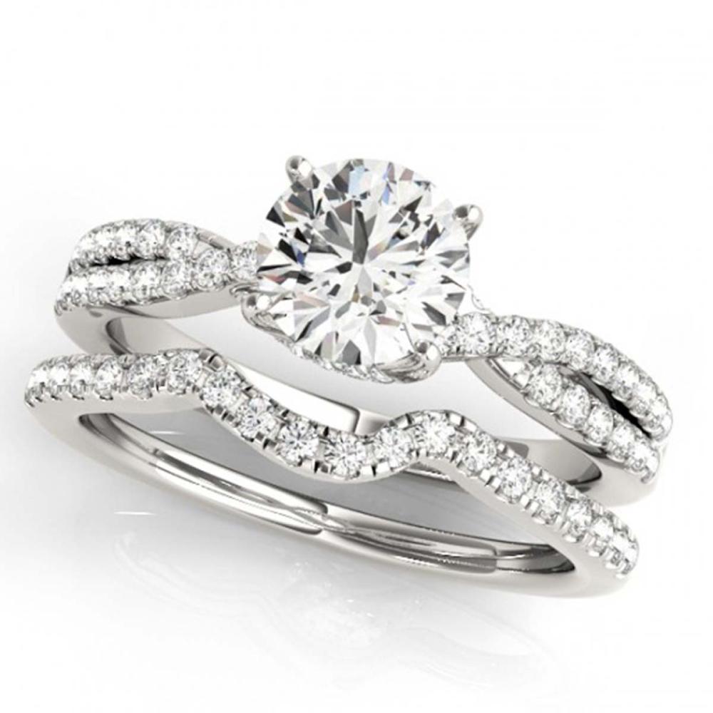 0.95 ctw VS/SI Diamond 2pc Wedding Set 14K White Gold - REF-103H3M - SKU:31910