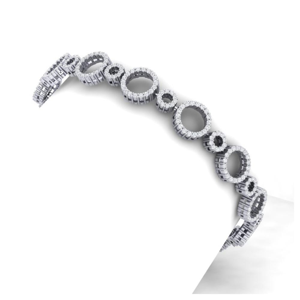 4 ctw SI/I Diamond Halo Bracelet 18K White Gold - REF-298W5H - SKU:40175