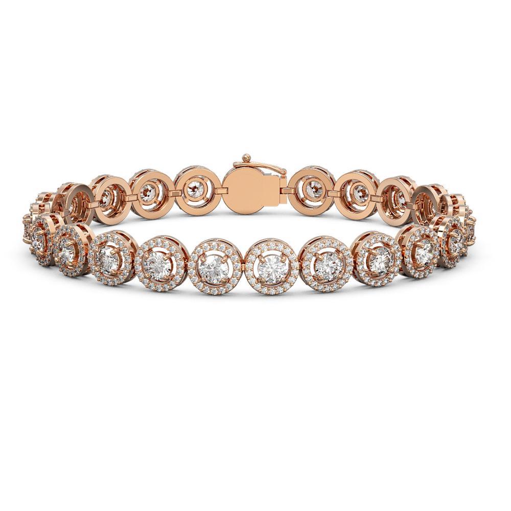 10.39 ctw Diamond Bracelet 18K Rose Gold - REF-787V8Y - SKU:42996