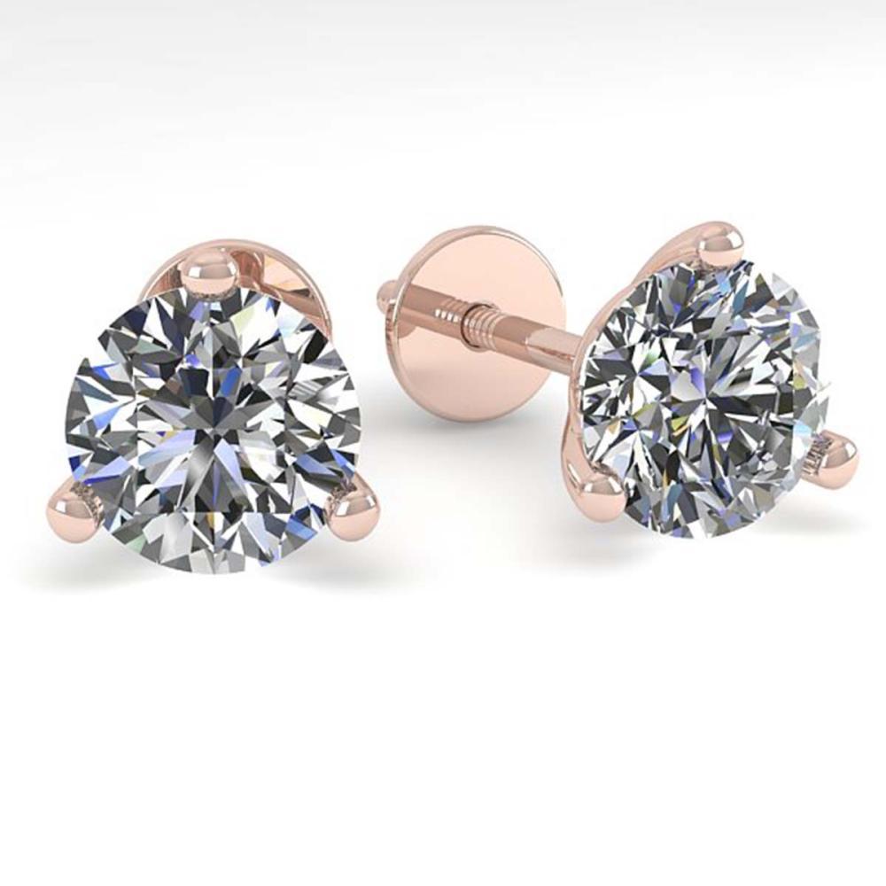 1.01 ctw VS/SI Diamond Stud Martini Earrings 14K Rose Gold - REF-118V6Y - SKU:30567