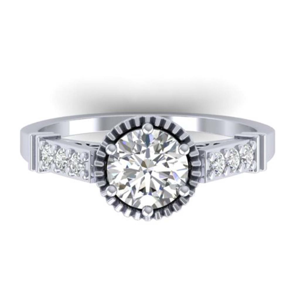 1.22 ctw VS/SI Diamond Art Deco Ring 14K White Gold - REF-304R4K - SKU:30534