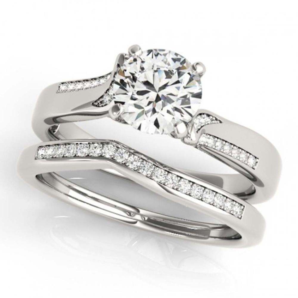 1.32 ctw VS/SI Diamond 2pc Wedding Set 14K White Gold - REF-299Y3X - SKU:31940