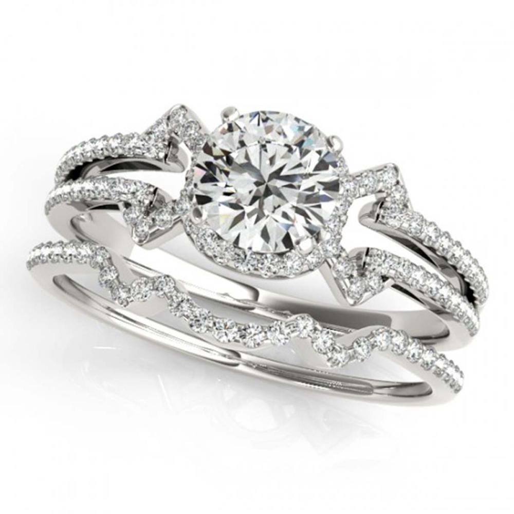 1.01 ctw VS/SI Diamond 2pc Wedding Set 14K White Gold - REF-121R4K - SKU:31997