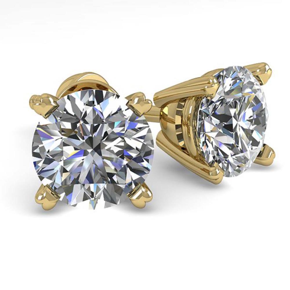 1.50 ctw VS/SI Diamond Stud Earrings 18K Yellow Gold - REF-253M3F - SKU:32296