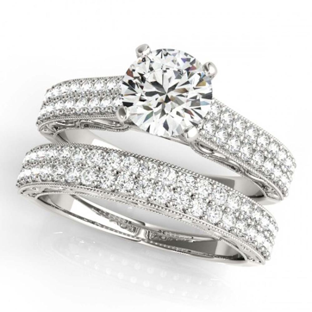 1.76 ctw VS/SI Diamond 2pc Set Wedding 14K White Gold - REF-187X3R - SKU:32132